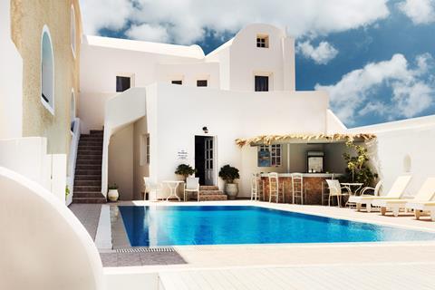 Villa Vergina Griekenland Cycladen Perissa sfeerfoto 2