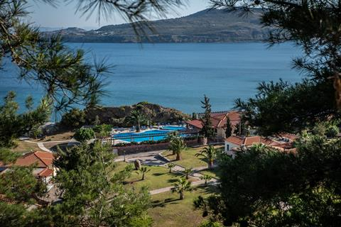 Alma Beach Griekenland Lesbos Petra  sfeerfoto groot