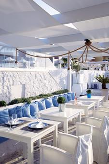 Petradi Beach Lounge Griekenland Kreta Rethymnon sfeerfoto 1