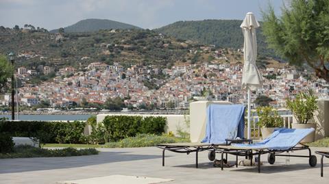 Skopelos Village Griekenland Skopelos Skopelos-stad sfeerfoto 2