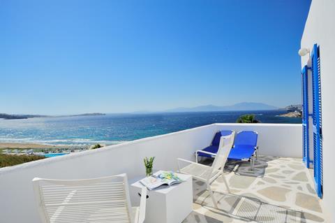 Mykonos Beach Griekenland Cycladen Mykonos-stad sfeerfoto 4