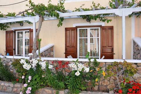 Polydefkis Griekenland Cycladen Kamari sfeerfoto 2