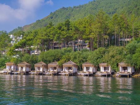 Orka Lotus Beach Turkije Lycische Kust Marmaris  sfeerfoto groot