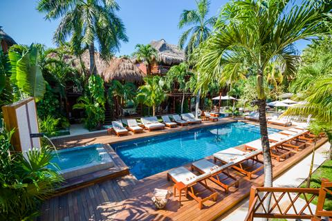 Magic Blue Spa Boutique Hotel Mexico Yucatan Playa del Carmen  sfeerfoto groot