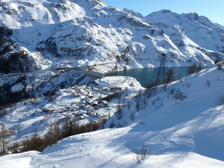 Wintersport Le Gentiana in Tignes Le Lac (Franse Alpen, Frankrijk)