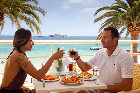 Ibiza Playa Spanje Balearen Figueretas sfeerfoto 3