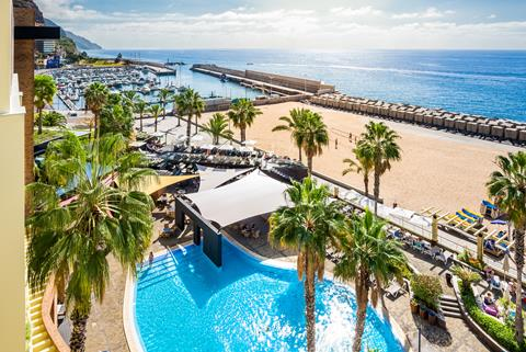 Calheta Beach Portugal Madeira Calheta  sfeerfoto groot
