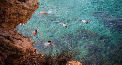 Ametlla Spanje Catalonië l'Ametlla de Mar  sfeerfoto groot