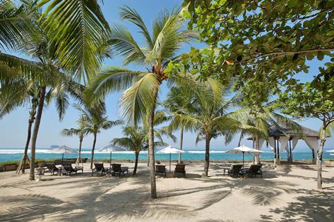 Candi Beach Indonesië Bali Candi Dasa  sfeerfoto groot
