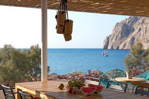 Kamari Beach Griekenland Cycladen Kamari sfeerfoto 1